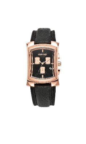 Roberto Cavalli - 7251900125 - Tomahawk - Montre Homme - Quartz Analogique - Bracelet Cuir Noir