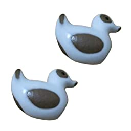 Set Of 4 Ceramic Drawer/Cabinet Pull Handles Cabinet Knobs Duck