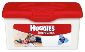 HUGGIES SIMPLY CLEAN* Wipes are there for dirty hands at dinnertime or cleanup at the changing table
