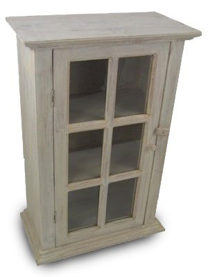 Wall cabinet - glass front - natural limed