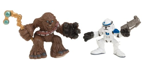 Star Wars Episode 3 Junior Figure 2 Pack Chewbacca & Clone Trooper - 1