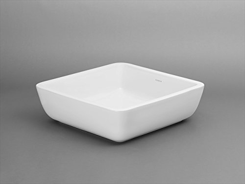 Ronbow 200051-WH Square Ceramic Vessel Bathroom Sink In White