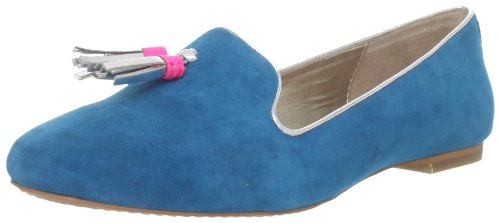 Dolce Vita Women's Nalla Loafer,Teal Suede,6.5 M US