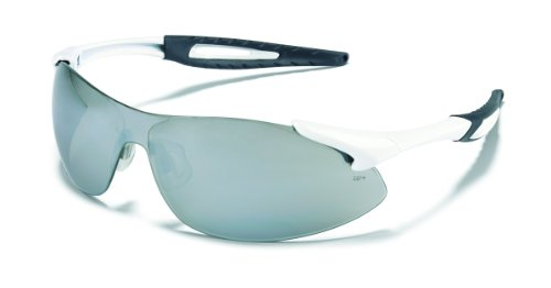 Mcr Safety Ia137 Inertia Polycarbonate Safety Glasses With White Frame And Silver Mirror Lens