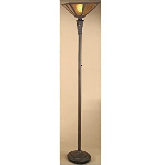 antique bronze mica torchiere floor lamp home improvement. Black Bedroom Furniture Sets. Home Design Ideas