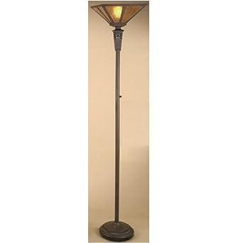 Amazoncom antique bronze mica torchiere floor lamp home for Mica torchiere floor lamp