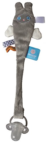 Snoozebaby Pacifier Clip, Grey