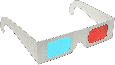 Buy Cheap 10 Pairs of Red/Cyan Cardboard 3D Glasses - Folded in Protective Sleeve