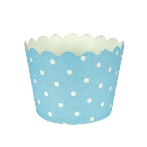 Azul Pastel de lunares para tartas/x 24 moldes para cupcakes