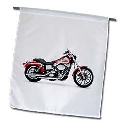 3dRose fl_ 4490_1 Harley-Davidson Motorcycle Picture Garden Flag