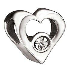 Chamilia Jeweled Heart Bead with Clear CZ