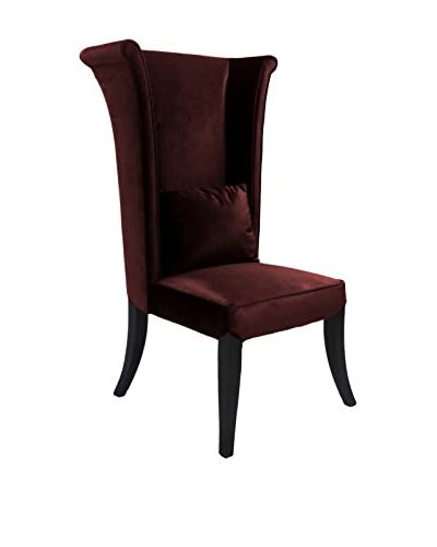 Armen Living Mad Hatter Dining Chair, Brown Velvet