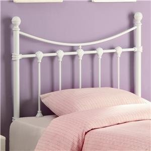 Coaster Twin Headboard, Glossy White back-926871