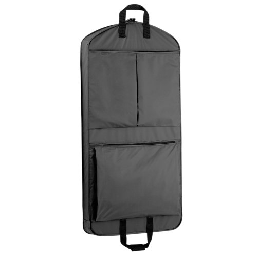 WallyBags 45 Inch Extra Capacity Garment Bag with Pockets, Black, One Size (Mens Garment Bag compare prices)