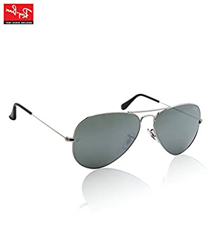 c1739dbbed Ray Ban Medium Size 58 Aviator Sunglasses Silver RB3025 W3277 available at  Amazon for Rs.