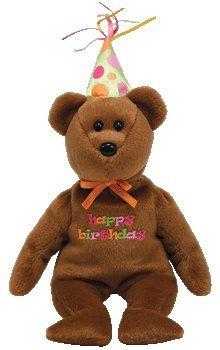 Ty Happy Birthday Bear. TY Beanie Baby - HAPPY BIRTHDAY the Bear (2008 Brown w/ hat)