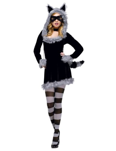 Racy Raccoon Adult Costume Sm Med 2-8 Adult Womens Costume
