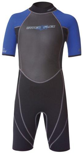 Hyperflex Wetsuits Junior's Access 2.5mm Spring Suit, Black/Blue, 12 - Surfing, Windsurfing & Wakeboarding