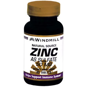 Special pack of 6 WINDMILL ZINC SULFATE Tab 50MG 90 Tablets