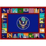 "Joy Carpets Kid Essentials Early Childhood Symbols of America Rug, Multicolored, 5'4"" x 7'8"" - 1"