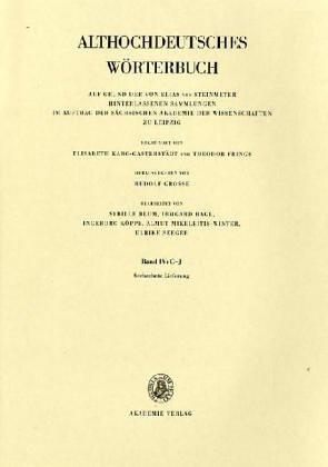 Althochdeutsches Wörterbuch: Band IV: G-J, 16. Lieferung (hiuuisclih bis holz)