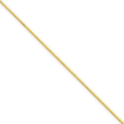 9 Inch 14k Gold .80mm Octagonal Snake Chain Anklet