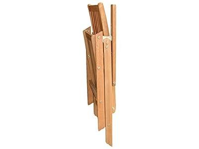 Gartenmöbel / Hochlehner Klappstuhl Eukalyptus Hartholz - verstellbar - Modell 2016 von RWH - Gartenmöbel von Du und Dein Garten