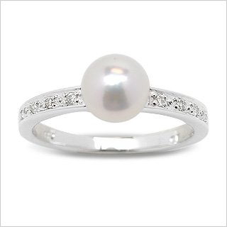 Tarini Japanese Akoya Cultured Pearl Ring