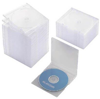 ELECOM スリムCD/DVDケース CCD-017LCR