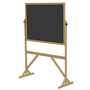 "Reversible Duroslate Chalk/Duroslate Chalk Board Size: 36"" x 48"", Frame: Wood, Board Color: Black"