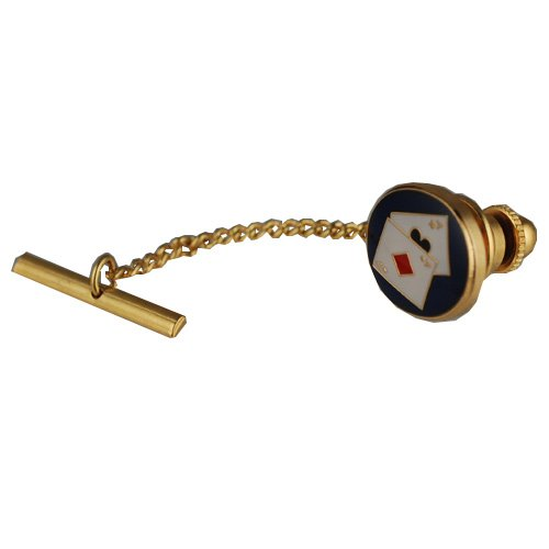 British Jewellery Workshops Hard Gold plated 14x12mm Poker tie tack