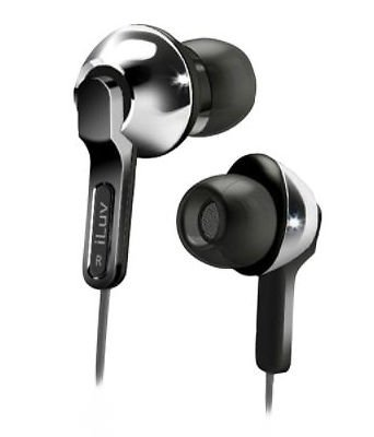 Iluv Iep322Sil City Lights Explosive Bass In-Ear Headphones Silver Earphone New