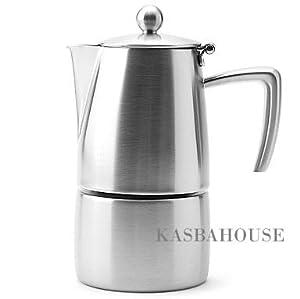 Slancio Stovetop Espresso Maker - 4 Cup - Made in Italy by Ilsa