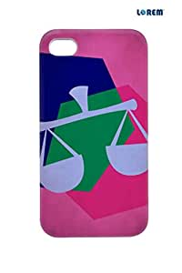 Lorem Back Cover For Apple iPhone 4/4S-Pink-L27146