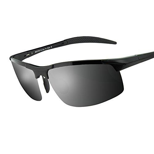 728059f6109 Duco Men s Sports Style Polarized Sunglasses Driver Glasses 8177S (Black  Frame