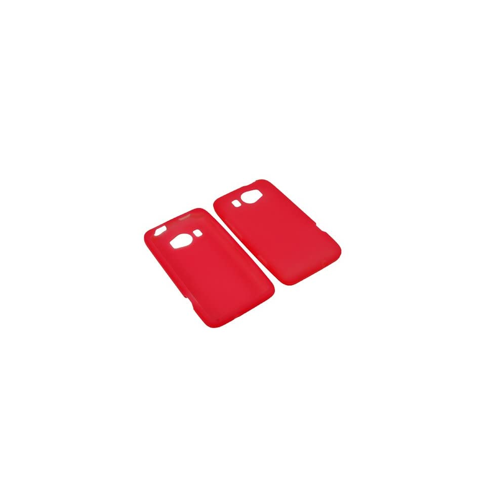 AM Soft Sleeve Gel Cover Skin Case for AT&T HTC Titan II  Red