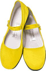 Cheap Mary Jane Cotton China Doll Slippers in US Womens Sizes (Yellow) (B002DW2J7U)