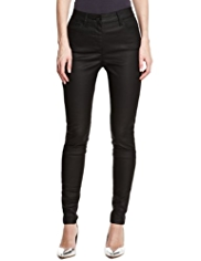 M&S Collection Leather Look Denim Jeggings