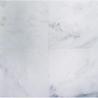 Bianco Carrara (White Carrera) Polished Marble 12 x 12 Tile by Natural Stone Wholesaler