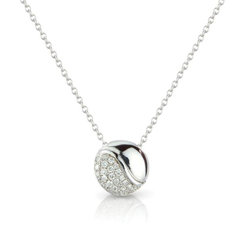 Jewelco London 18ct White Gold - Diamond Necklet - Chain