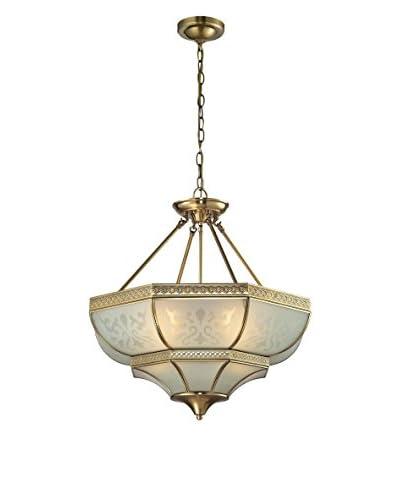 Artistic Lighting French Damask 4-Light Full-Sized Pendant, Brushed Brass