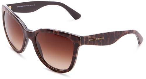 D&G Dolce & Gabbana 0DG4190 19951354 Polarized Oversized Sunglasses,Leopard,54 mm