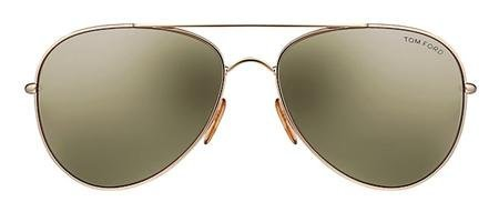 New Tom Ford Hunter TF0103 Rose Gold w/ Green