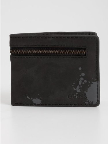 GUESS Waxy Cow Hip Fold Wallet with Zipper
