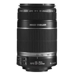 Canon EF-S 55-250mm f/4-5.6 IS Image Stabilizer Telephoto Zoom Lens - Grey Market non US Product