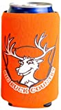 Hat Trick Openers Can Cooly Combo with Attached Big Buck Country Logo, Orange Neoprene