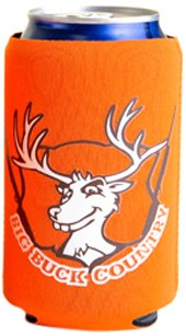 Hat Trick Openers Can Cooly Combo With Attached Big Buck Country Logo, Orange Neoprene front-12837