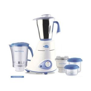 Preethi Blue Leaf Platinum Mixer 110 Volts - 3 Jars / Preethi Mixie / Preethi Blender / Preethi Juicer