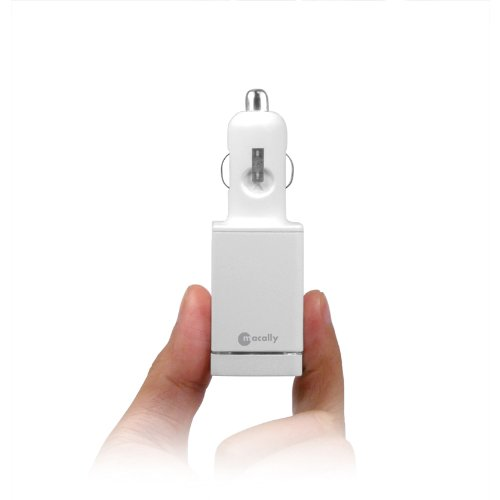 Macaroni Grill 10 Watt Dual USB Car Charger for iPad, iPhone, iPod Touch and Other Mobile Devices (White)