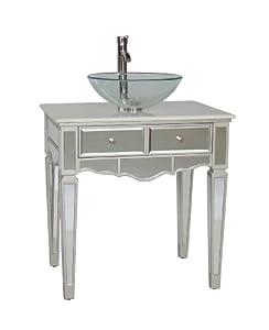 "30"" Mirrored Over mounted Vessel Sink Vanity - Aslton Model # BWV-015/30"